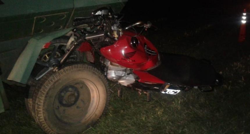 Fallece un motociclista de nuestro medio tras impactar contra un tractor en Ruta 65
