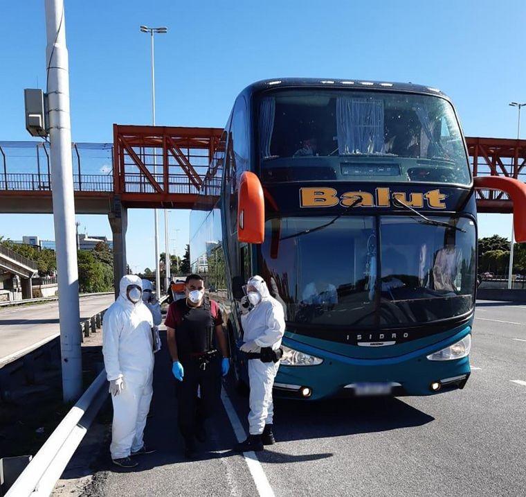 Detuvieron en Buenos Aires a un colectivo que venía de Jujuy