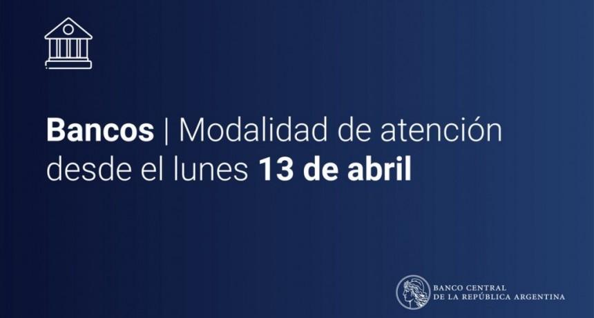 Bancos abrirán al público con turnos del 13 al 17 de abril