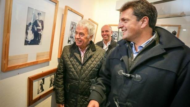 Sergio Massa y De la Sota se mostraron juntos en la casa natal de Eva Perón, aquì en Los Toldos