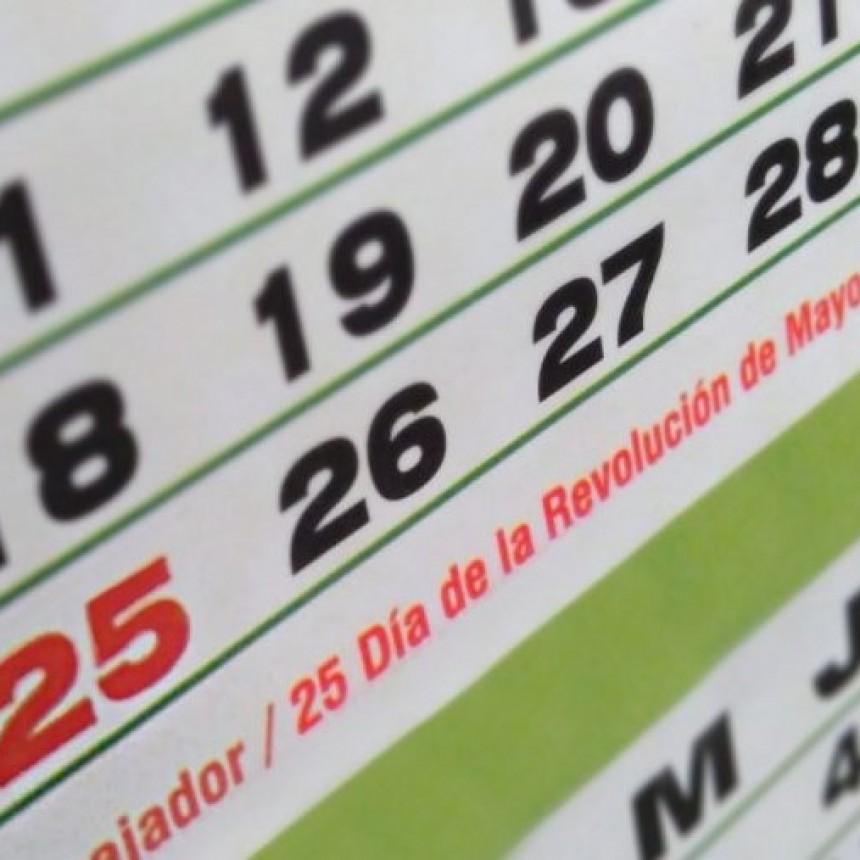 Servicios para el feriado del 25 de mayo.