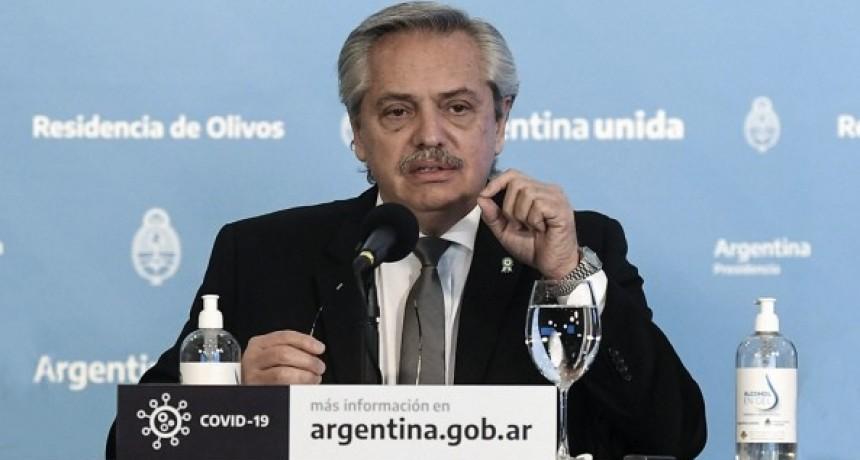 El Presidente, a los argentinos:
