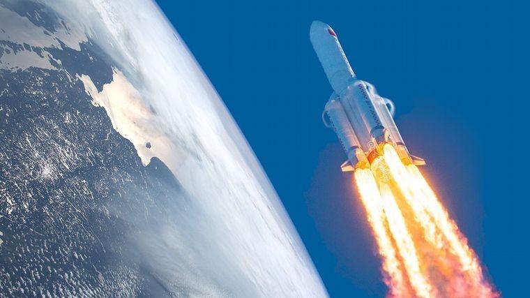 El cohete chino se desintegró sobre el océano Índico