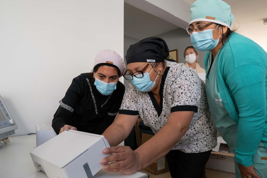 NUEVO RESPIRADOR | Hoy se le suma uno mas a los existentes  y 7 bombas de infusión,