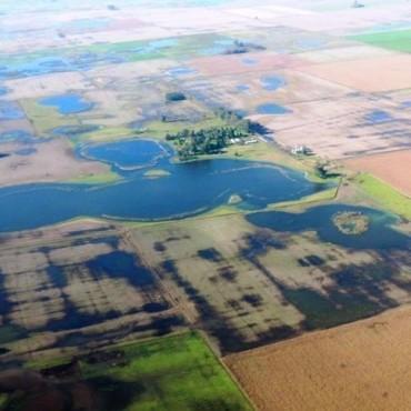 Hay zonas inundadas en el distrito de Gral Viamonte