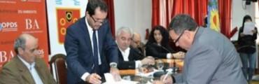 Nuestro Municipio a traves del Ing Claudio Marote firma importante convenio sobre medio ambiente