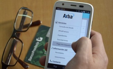 Vence el inmobiliario y puede pagarse desde la aplicación de ARBA para celulares