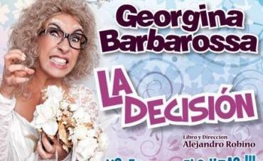 Este martes 16 llega Georgina Barbarossa a Los Toldos