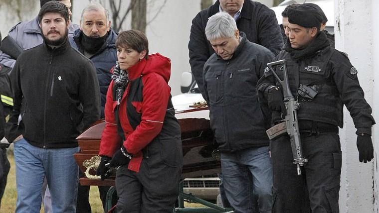 Lázaro Báez asistió al velatorio de su madre en Río Gallegos