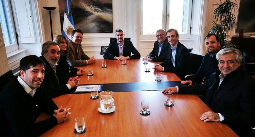 Intendentes oficialistas de la Cuarta Sección se reunieron con Marcos Peña. Alli estuvo el Dr Flexas
