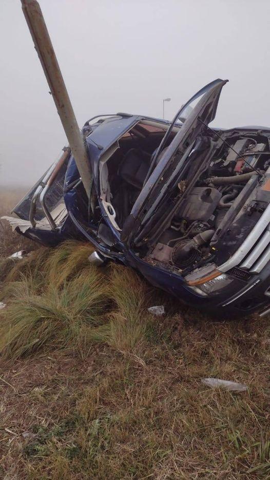 Accidente vehicular en la rotonda de ruta 65 y 46