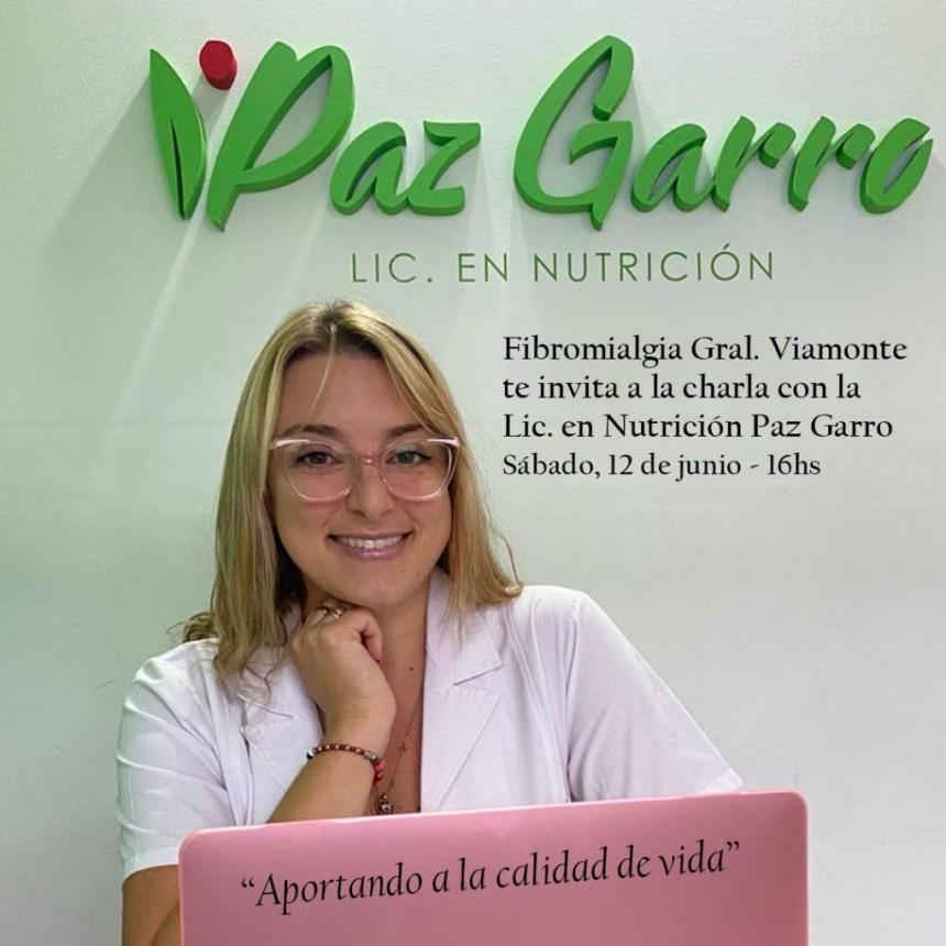 LOS TOLDOS| Charla con la Lic en nutrición Paz Garro: