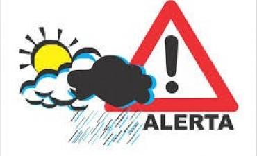 Rige una alerta meteorológica para la región