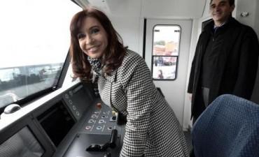 Cristina presentó nuevos trenes: