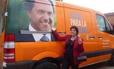 Fernanda Fava presentò su lista ante los microfonos de La revista radial que se emite por Radio Centro, todas las tardes