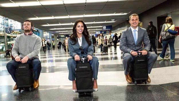 Modobag, una maleta motorizada que te lleva a una velocidad de 13 km/h