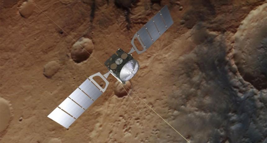 Descubren un gran lago de agua líquida en Marte