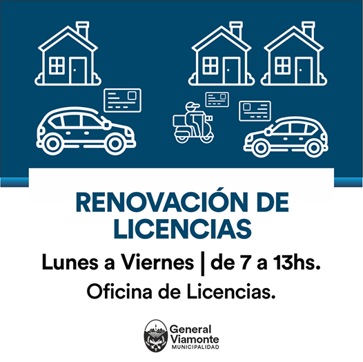Ya se renueva la licencia