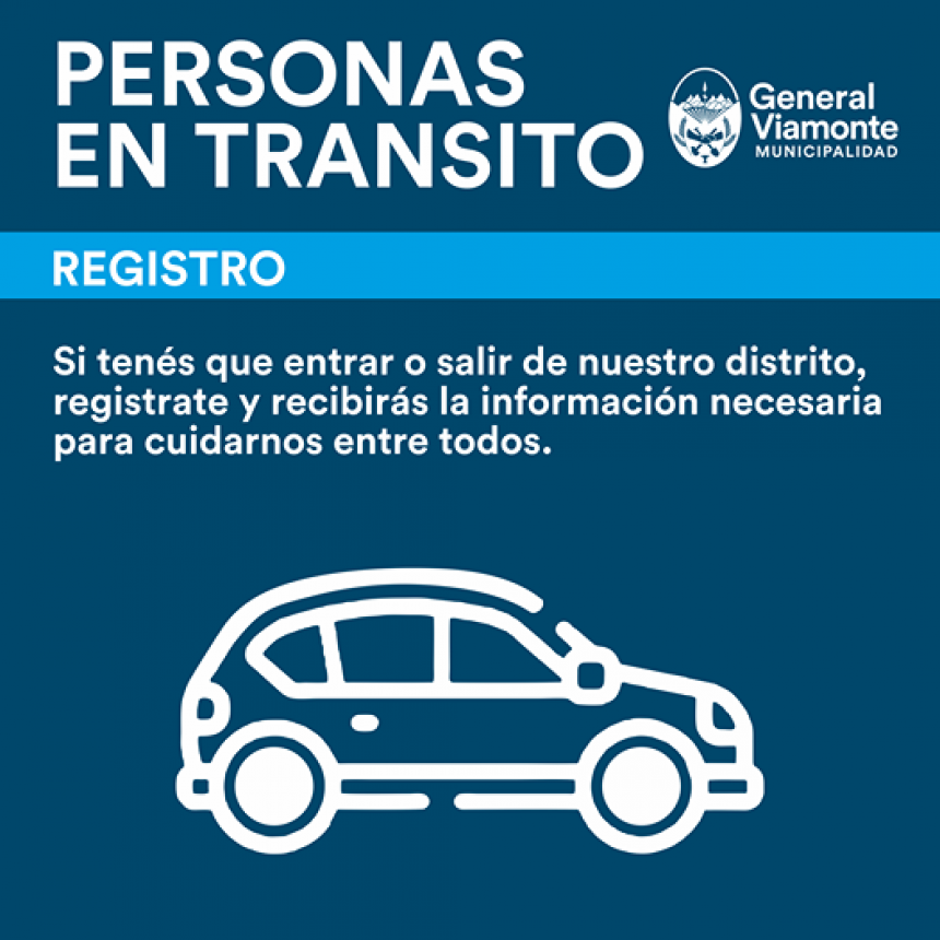 REGISTRO DE PERSONAS EN TRÁNSITO | Lo que tenés que saber