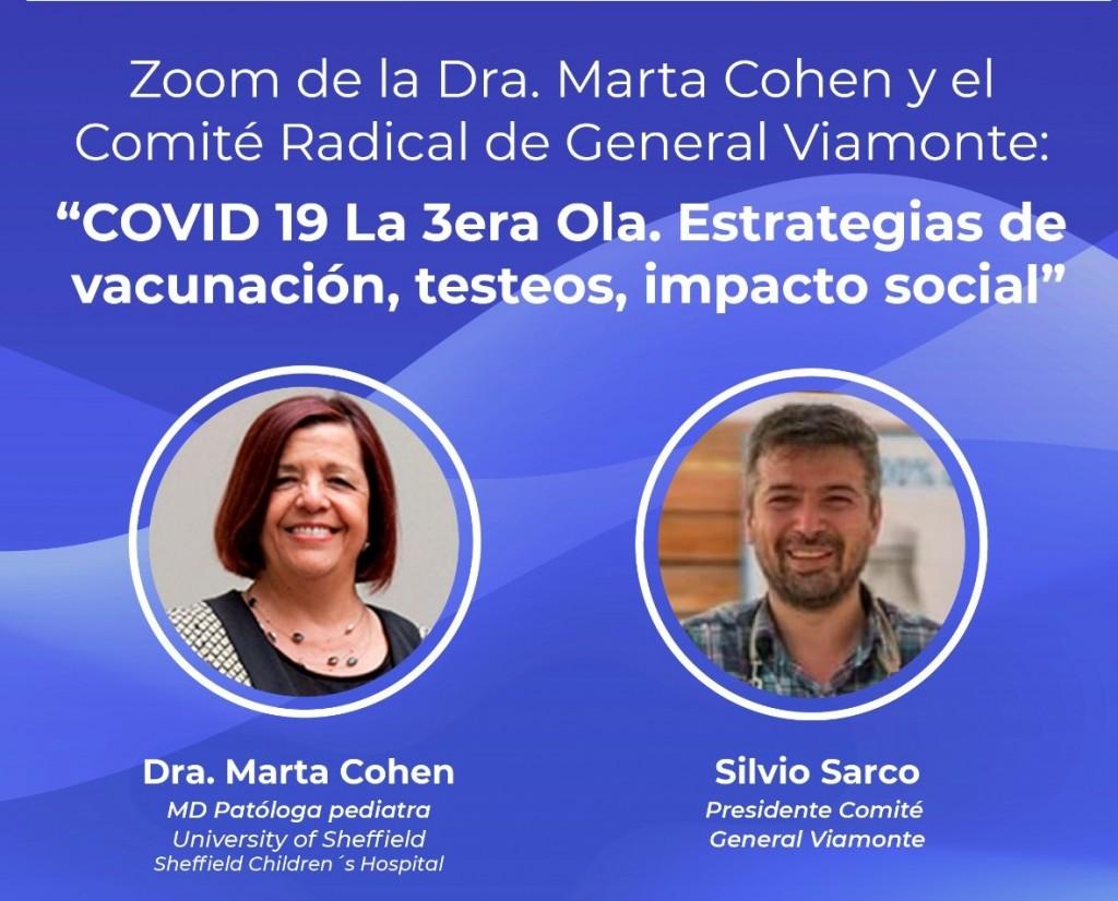 Importante charla con la Dra. Marta Cohen