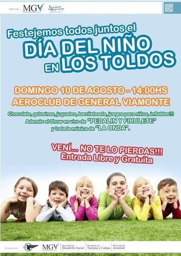 DOMINGO 10 DE AGOSTO - Actividades al aire libre con motivo del dìa del niño