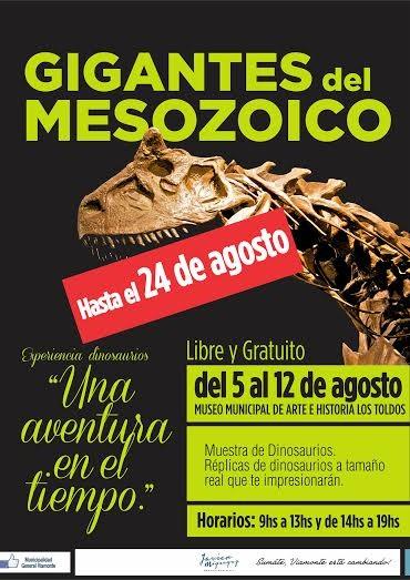 """""""GIGANTES DEL MESOZOICO"""" se extenderá hasta el 24 de agosto inclusive"""