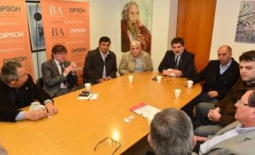 Intendentes de 9 de Julio, Gral. Viamonte y Bragado se reunieron en la Direccion de Hidráulica