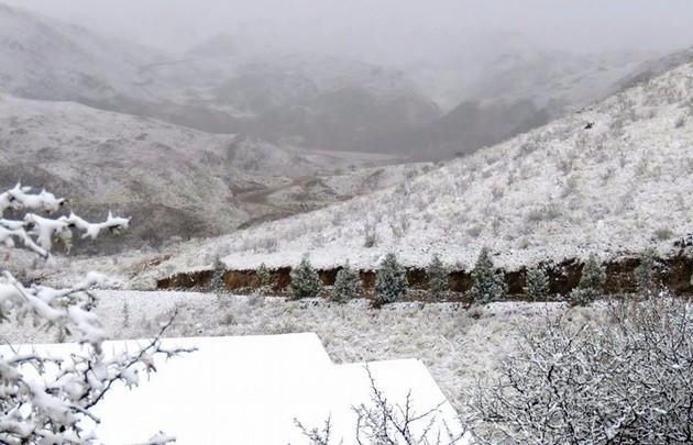 Una copiosa nevada cubrió de blanco las sierras de San Luis