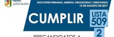 CIERRE DE CAMPAÑA : Frente cumplir