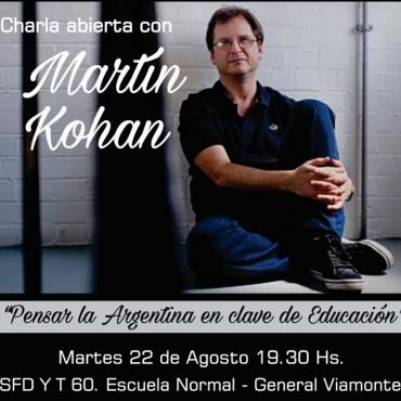 Charla abierta con el escritor y profesor universitario Martín Kohan