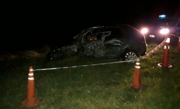 Grave accidente  a la medianoche en ruta 65