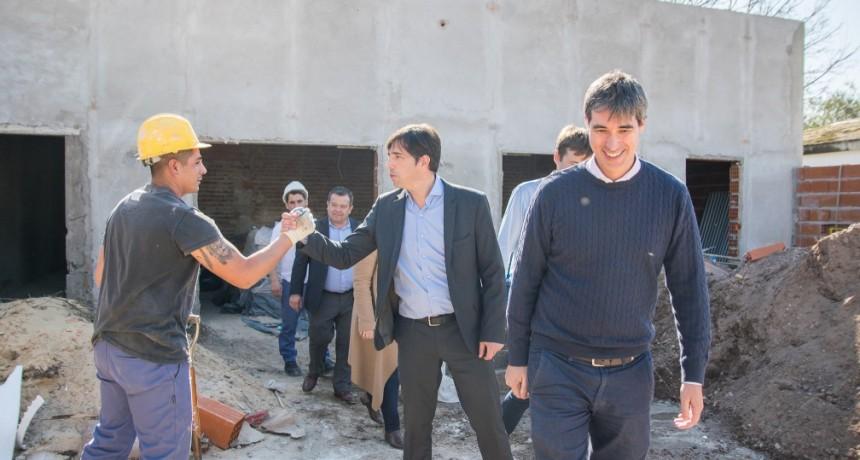 Adrián Pérez Secretario de Asuntos Políticos e Institucionales, visitó Los Toldos