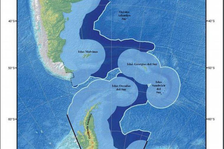 Tensión con Chile por la plataforma continental argentina