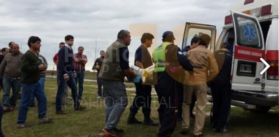 Un pescador perdió su vida en aguas de una laguna del partido de Bolivar