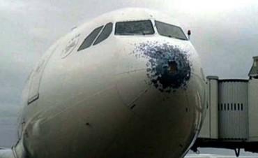 El avión que atravesó el granizo: