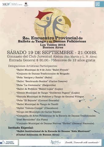 Segundo Encuentro Provincial de Ballets de Tango y de Danzas Folklóricas - Los Toldos 2015