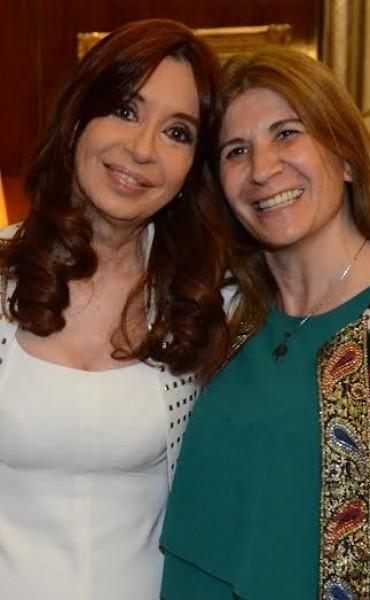 Viviana Guzzo estuvo con la Presidenta