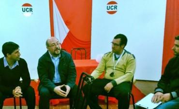 Franco Flexas, recibio a Fabio Quetglas especialista y profesor de la UBA y dialogò con la prensa local y con personas relacionadas con el comercio