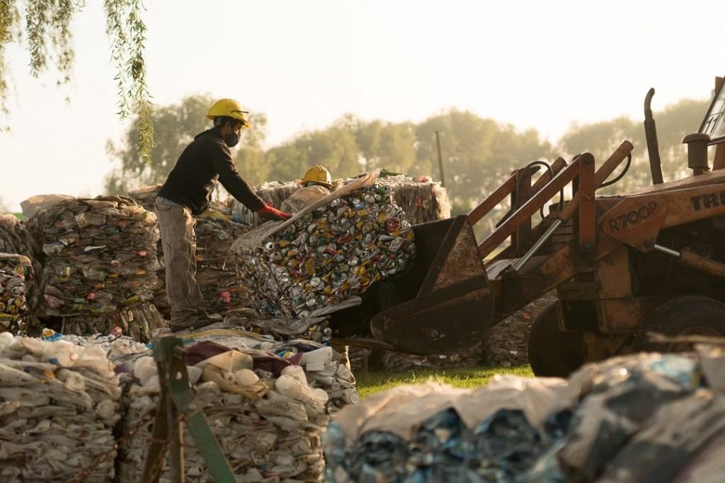 Hoy se vendieron más de 15.000 kilos de material reciclado