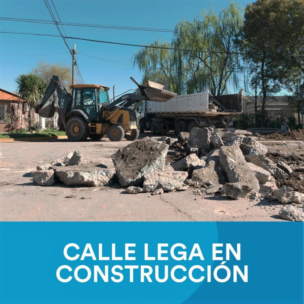 IMPORTANTE: Trabajos en calle Roberto Lega