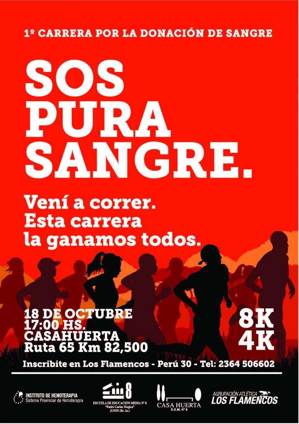 """MARATÓN  SOLIDARIA  : """"Junin dona sangre"""""""