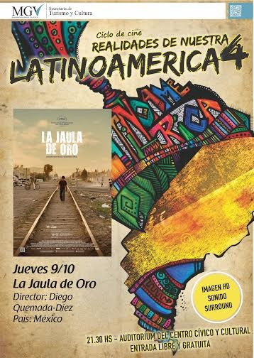 CICLO DE CINE LATINOAMERICANO 4: Hoy Jueves se proyecta La Jaula de oro