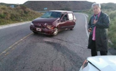 ¡Solo un susto! Juan Alberto Mateyko chocó en la ruta y está fuera de peligro