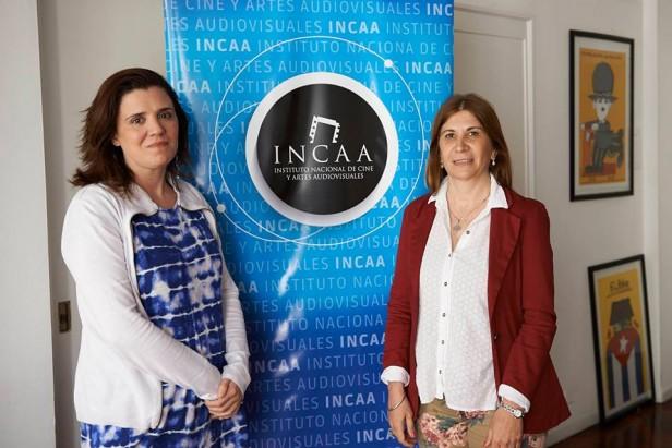 Viviana Guzzo con la Presidenta del Incaa