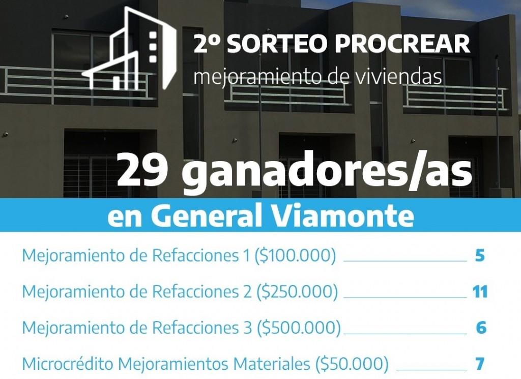 29 familias de General Viamonte salieron beneficiadas del segundo sorteo del Procrear