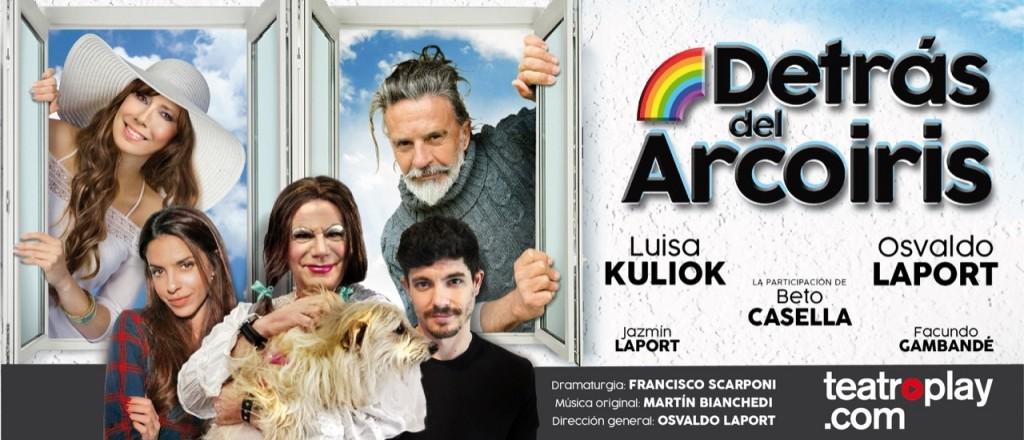 """""""Detrás del arco iris"""", la propuesta de teatro por streaming que volvió a juntar a Luisa Kuliok y Osvaldo Laport"""