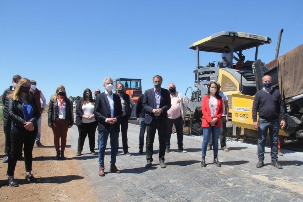 La diputada Guzzo recorrió obras en la región junto a Ministros