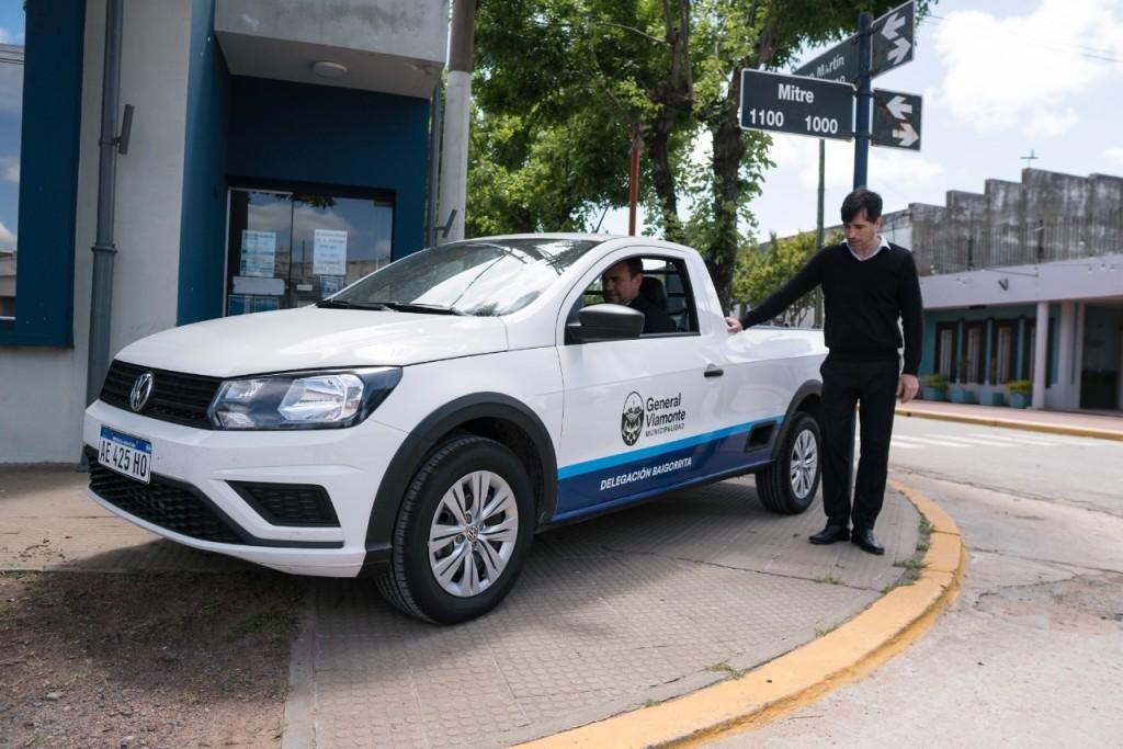 Franco Flexas presentó una nueva camioneta para Baigorrita.