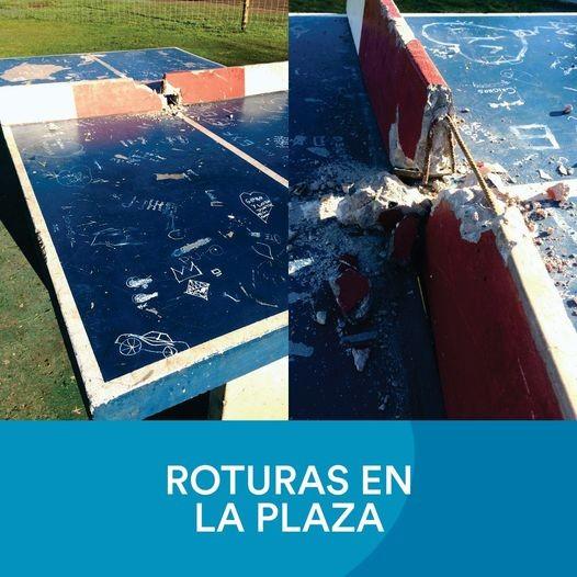 Así apareció la cancha de Ping-Pong de la Nueva Plaza del Bo. Juan el Bueno