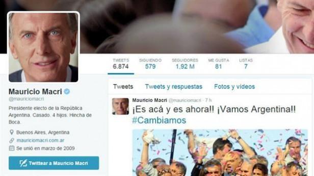 Mauricio Macri ya actualizó su perfil en Facebook y Twitter como